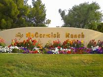 The entrance to McCormick Ranch in Scottsdale. Click the word McCormick on the sign to learn more about McCormick Ranch.